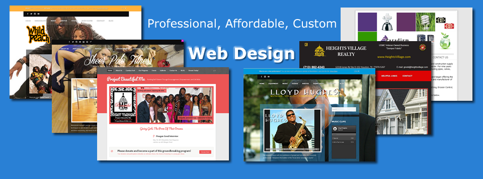 <b>Custom Web Design</b> - Within your budget and always on time.  We're here to help with your design.